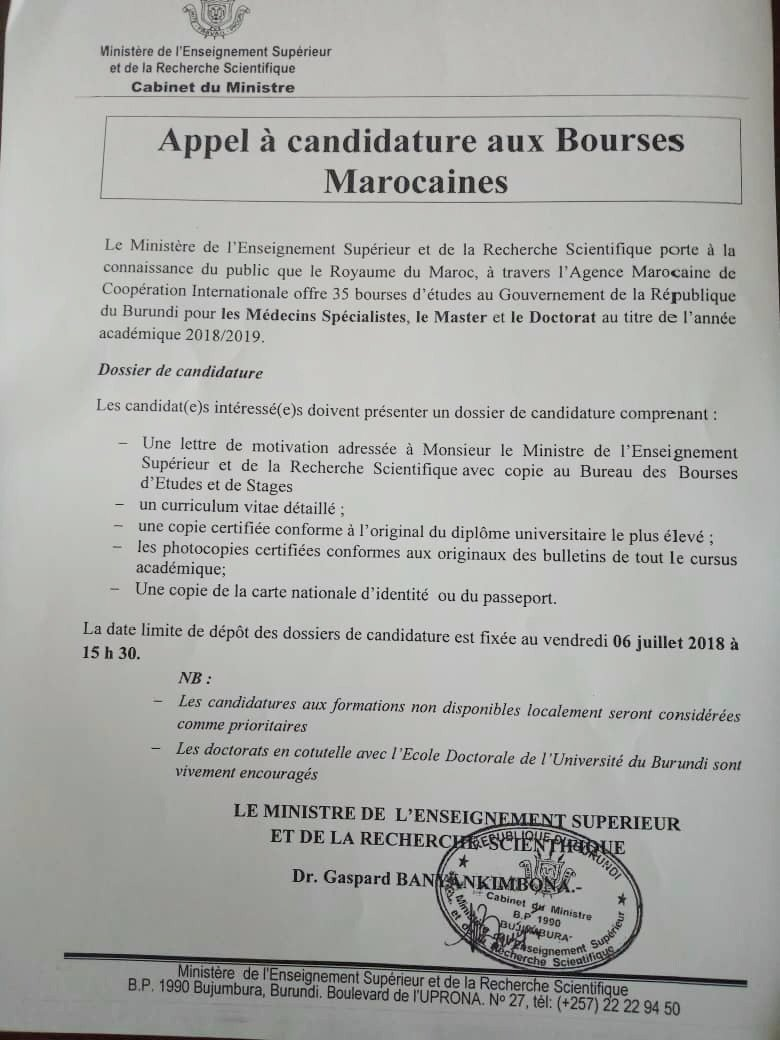 Akeza Burundi On Twitter Burundi Le Maroc Offre 35