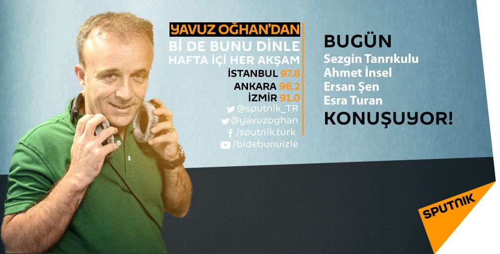 Yavuz Oğhan'dan #Bidebunudinle 17:30 da RS FM'de! tr.sputniknews.com/popup/radio/