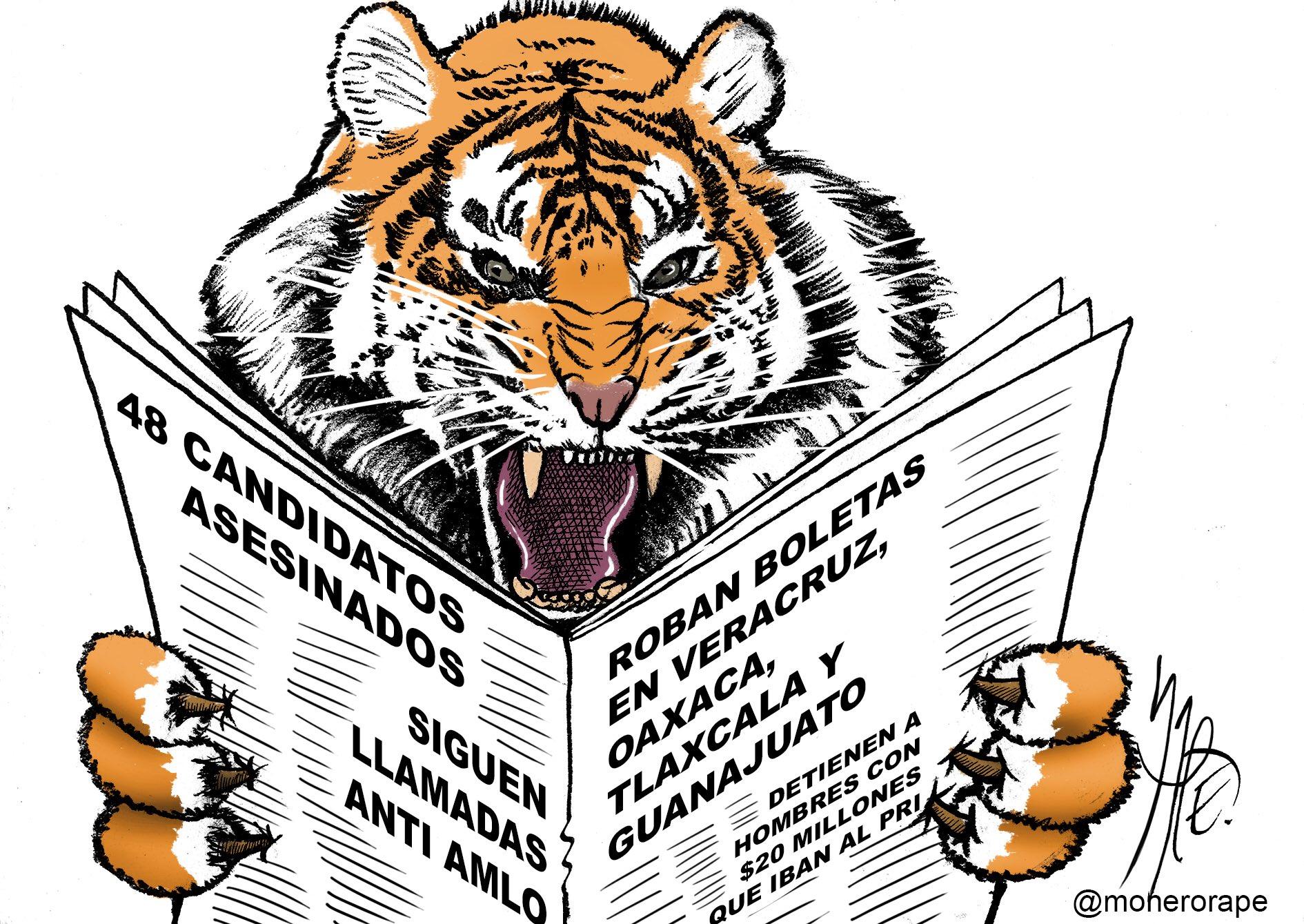 No es para menos. El tigre está encabronado por tanta fregadera. Cartón en @Milenio https://t.co/p8G3iOeDCn