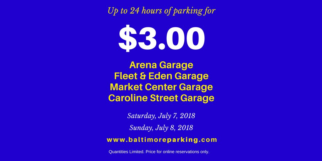 Pabc parkingauthbc twitter last weekend of discounted parking rates is next saturday sunday july 7th 8th limited quantities available must use httpbaltimoreparking solutioingenieria Gallery