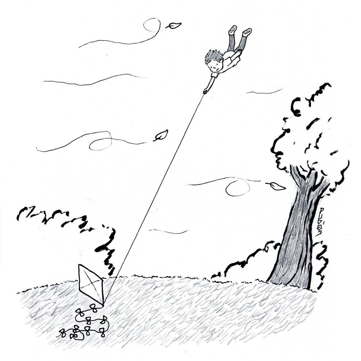 Art Drawing Wind Fly