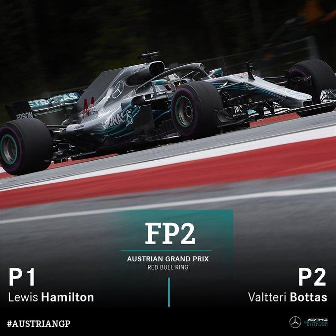 Lewis leads Valtteri in FP2