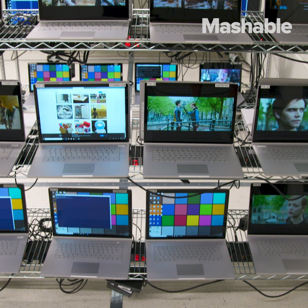 We got to see how Microsoft tests their devices to death