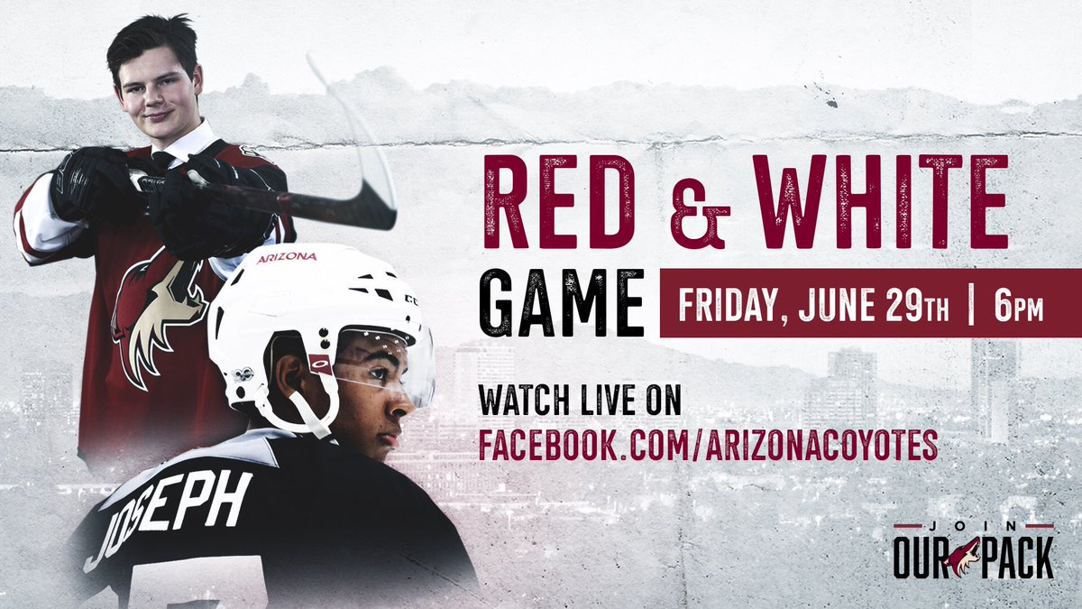7709ade0350 Our annual red & white game is tonight at 6 PM at @GilaRivArena. Admission  is free but fans are encouraged to bring a teddy bear to be donated to  United ...