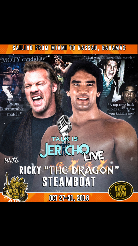 Excited to announce @REALSteamboat on @TalkIsJericho LIVE @jericho_cruise! Book ur cabin NOW https://t.co/5ZoFzjCyXT https://t.co/wnoProaJ8z