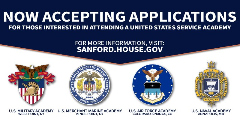 ... Attend A United States Service Academy, My Office Can Help...  Https://sanfordforms.house.gov/forms/serviceacademynomination/  U2026pic.twitter.com/VYYWqK4idU