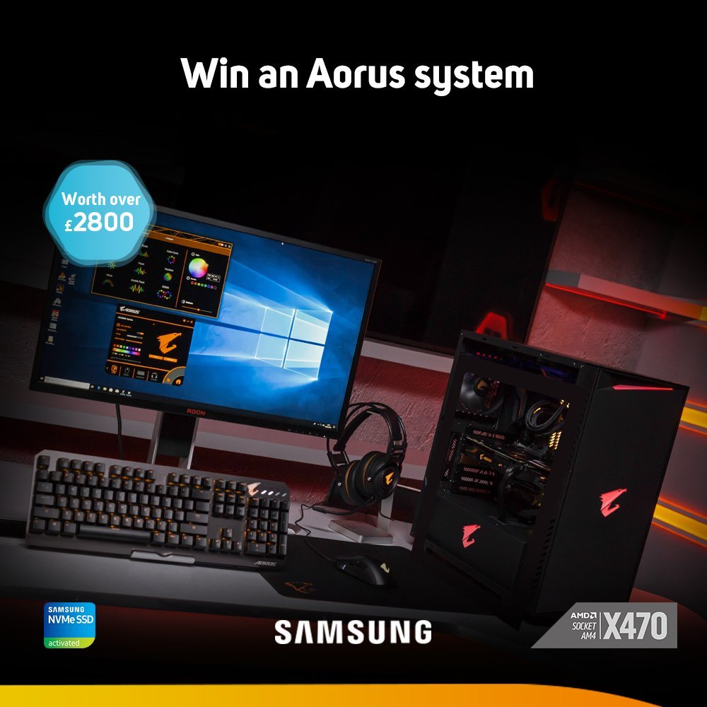Time for another EPIC giveaway! WIN a @SamsungUK and @AORUS_UK powered gaming PC worth over £2800. Open worldwide, entry is free - https://t.co/O5KUuyzJmQ #friyay #FridayMotivation #coolermaster #FridayFeeIing #win #Competition #freestuff #giveaway #Samsung #gigabyte https://t.co/OW1XWrmTRZ