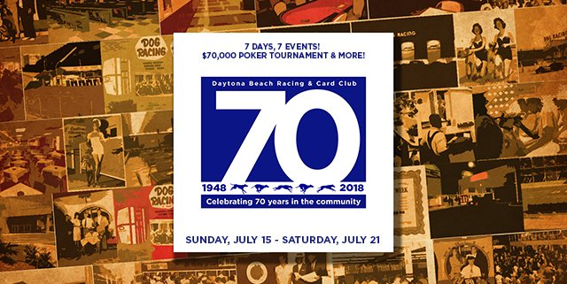 Daytona Dog Track >> Daytona Dogs Poker On Twitter We Re Celebrating 70 Years