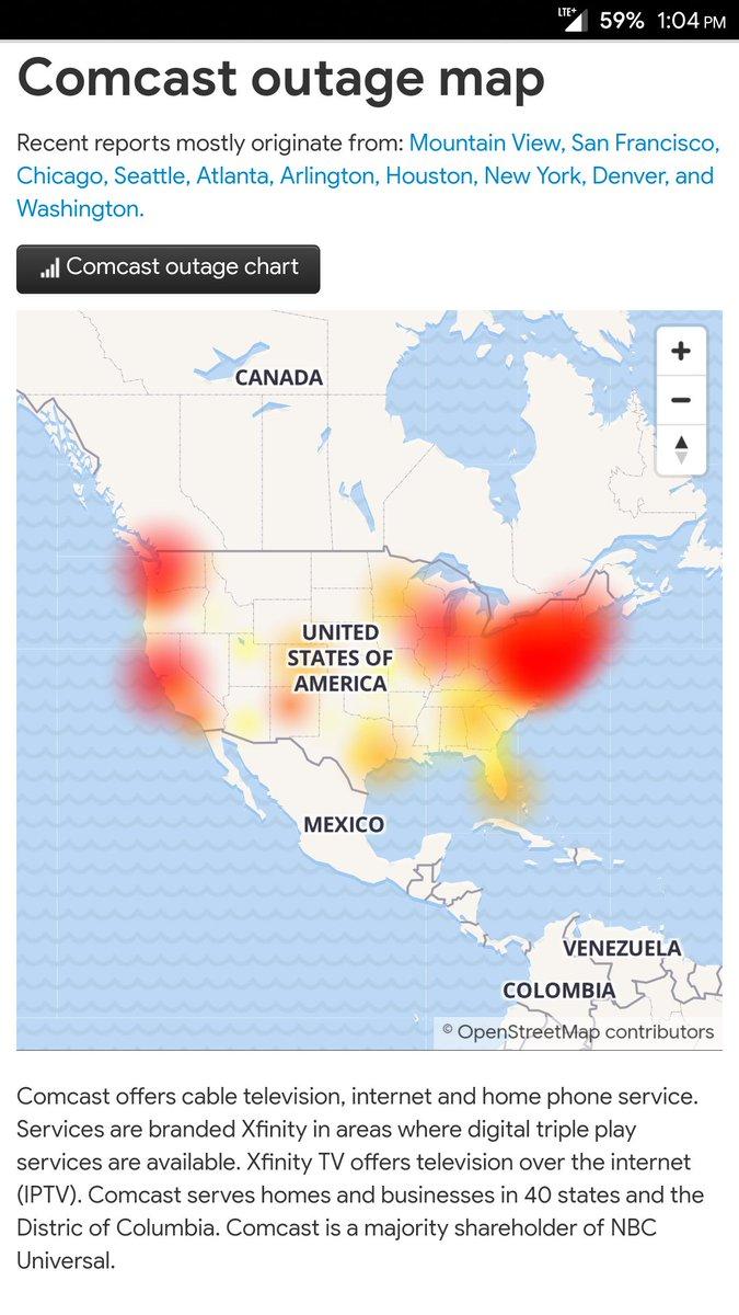 Comcast Internet Outage Map Houston