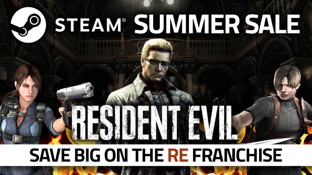 Got some plans for the weekend, stranger? We got something that might interest ya! This is the perfect time to catch up on the RE series! Save 💰 on the #ResidentEvil franchise for the #SteamSummerSale! bit.ly/2MAsw8e