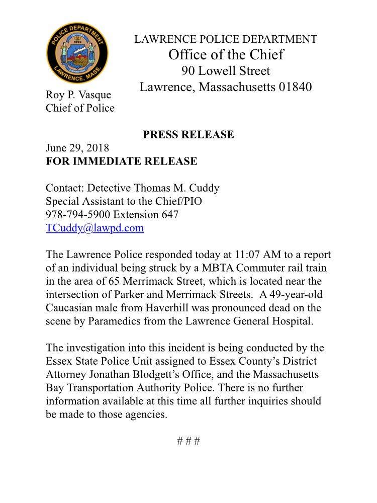 Lawrence, Massachusetts Police on Twitter: