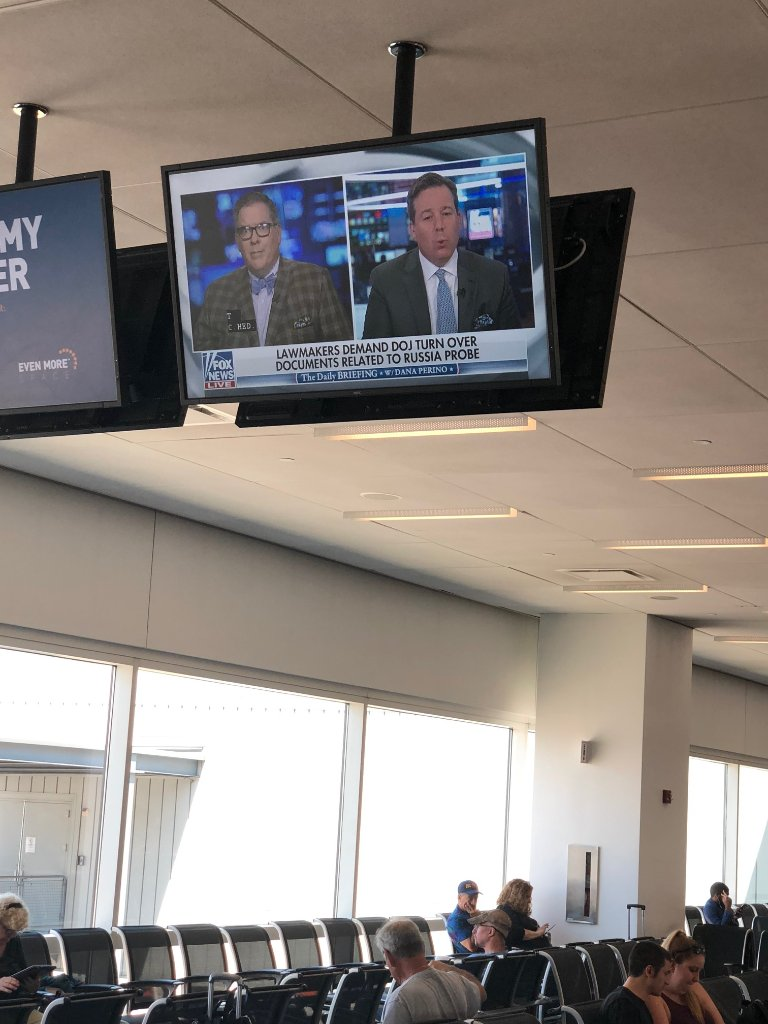 A first: @FoxNews playing in an airport terminal. #America gets its wish!! #FoxNews