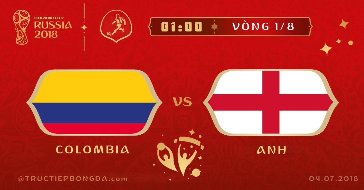 Colombia vs Anh
