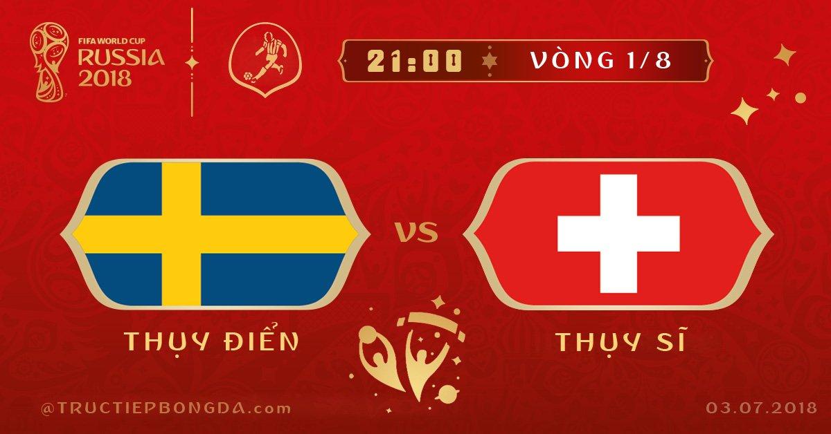 Thụy Điển vs Thụy Sĩ
