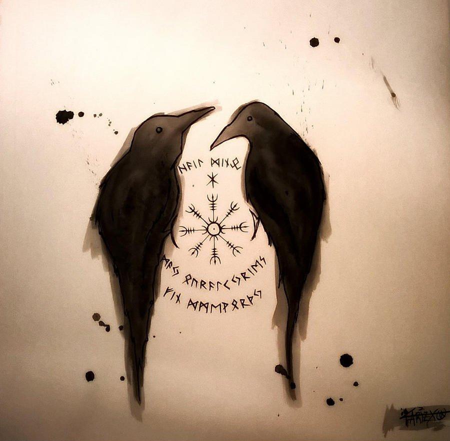 The Mytharium V Twitter Huginn Munnin Odin S Twin Ravens