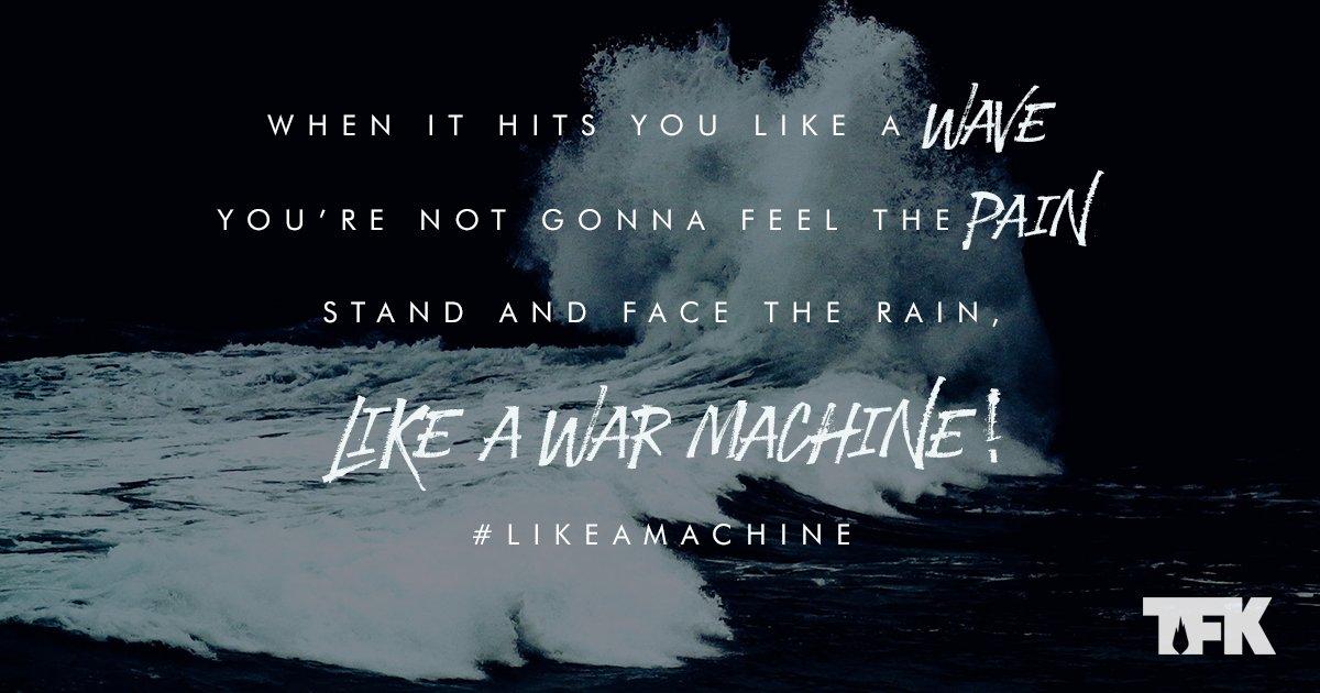 Fasten the hatchet door cause we ain't gonna run no more #LikeAMachine