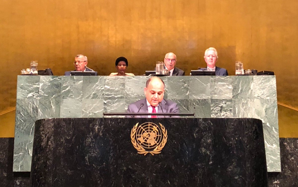 #Afghanistan Minister of Interior @waisbarmak at UN High-Level Conference on Counter-terrorism: Effective global response to terrorism requires decisive action & sufficient cooperation of member states. Enhancing state operational capacity is also essential for the goal at hand.