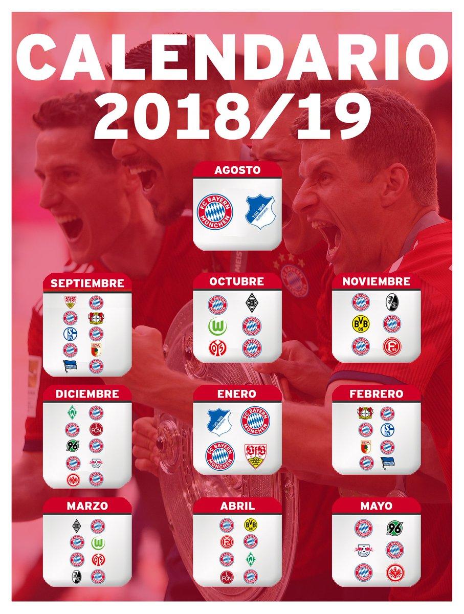 Bundesliga Calendario.Fc Bayern Munchen Espanol Pa Twitter Porsiteloperdiste