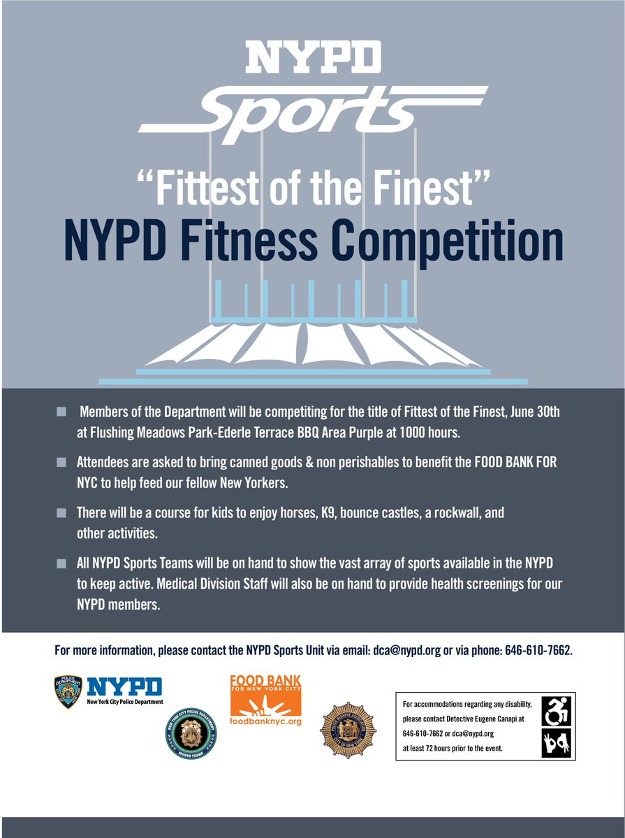 ... Of Its Kind Competition Of Speed, Endurance, Strength U0026 Fitness. There  Will Be Plenty Of Activities For People Of All Ages! Come Meet Your #nypd  Sports ...