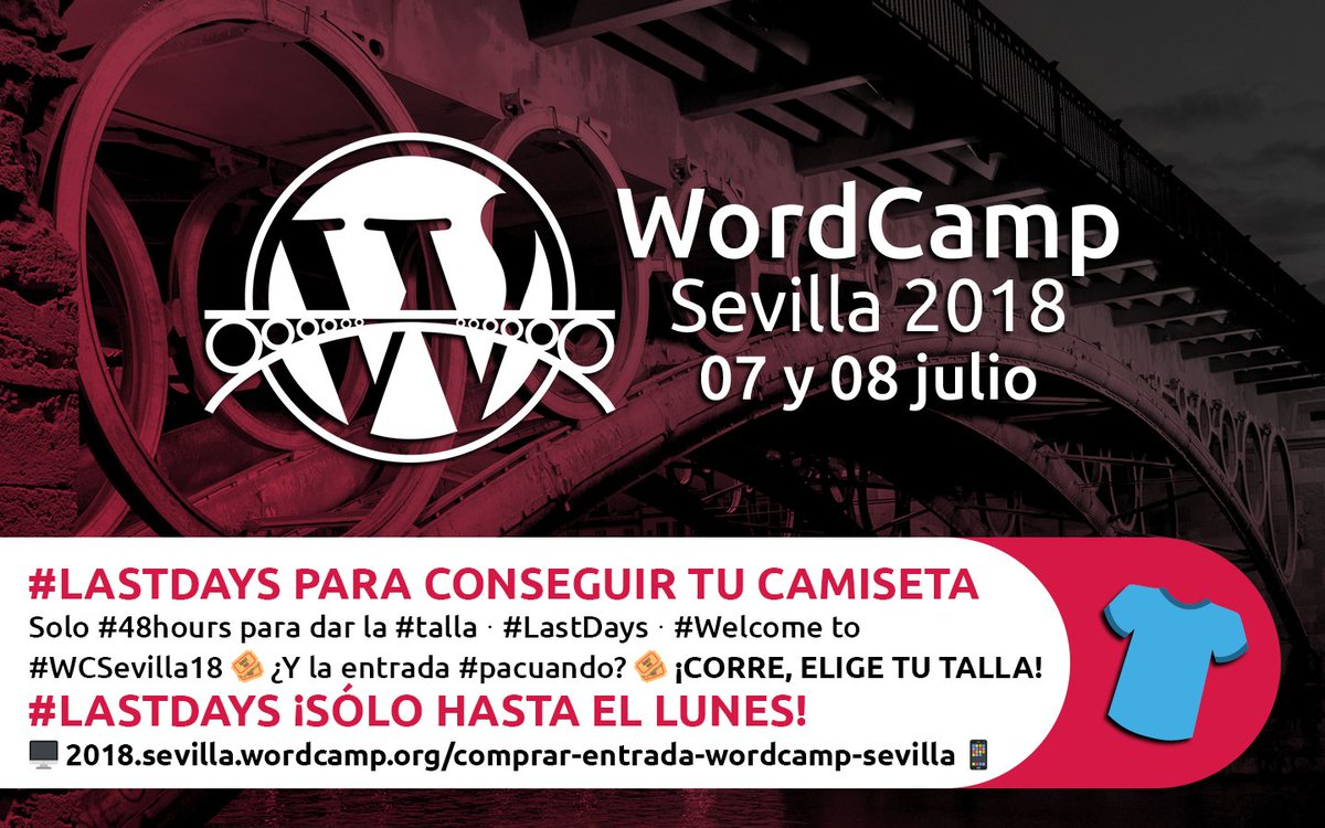 f4dd24ed9432 WordCamp Sevilla on Twitter