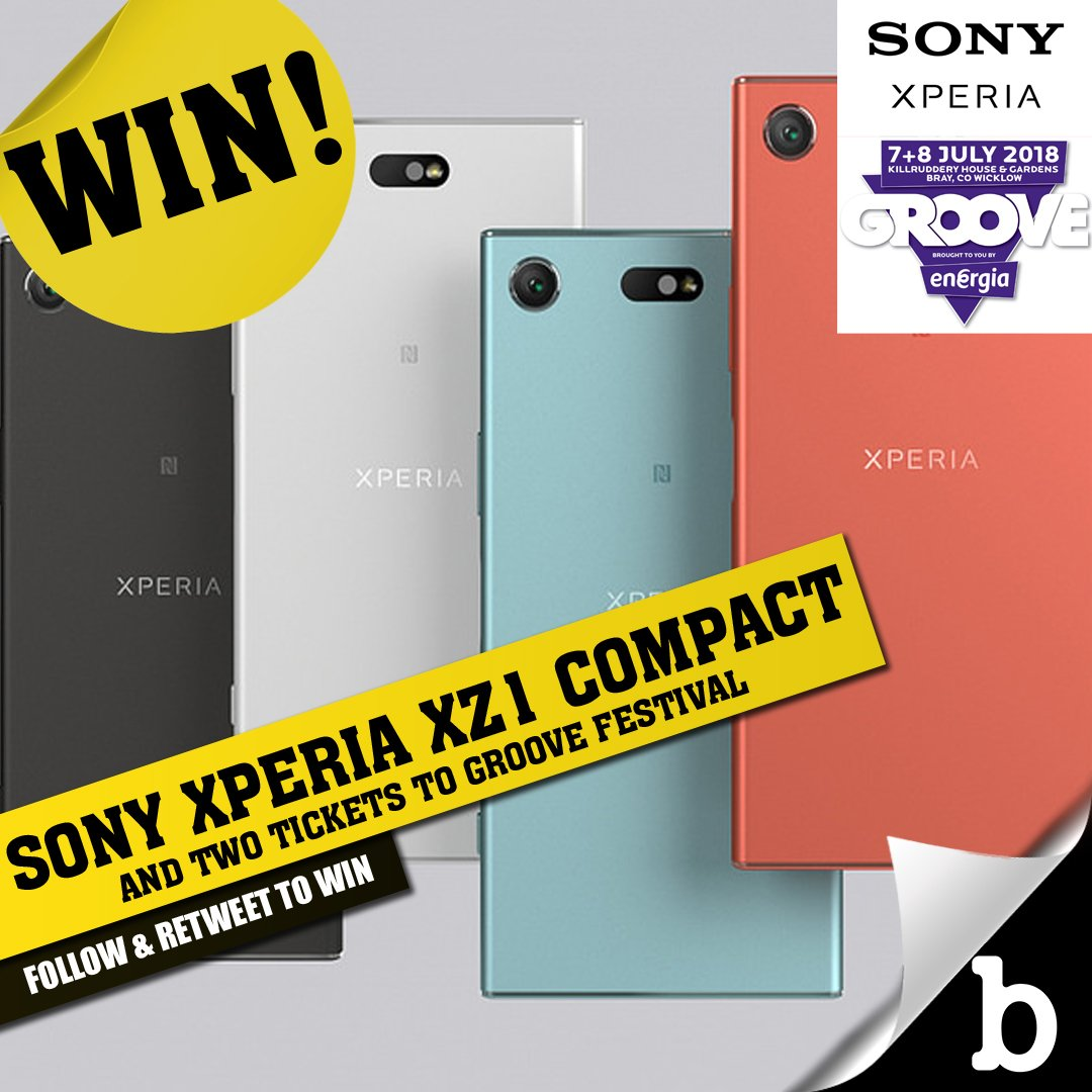 WIN A Sony Xperia XZ1 Compact and weekend passes to Groove Festival thanks to Sony Mobile Ireland and Groove Festival. To enter, just follow @buzzdotie and RT this tweet before midnight on Tuesday!