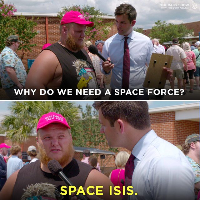 the daily show space force