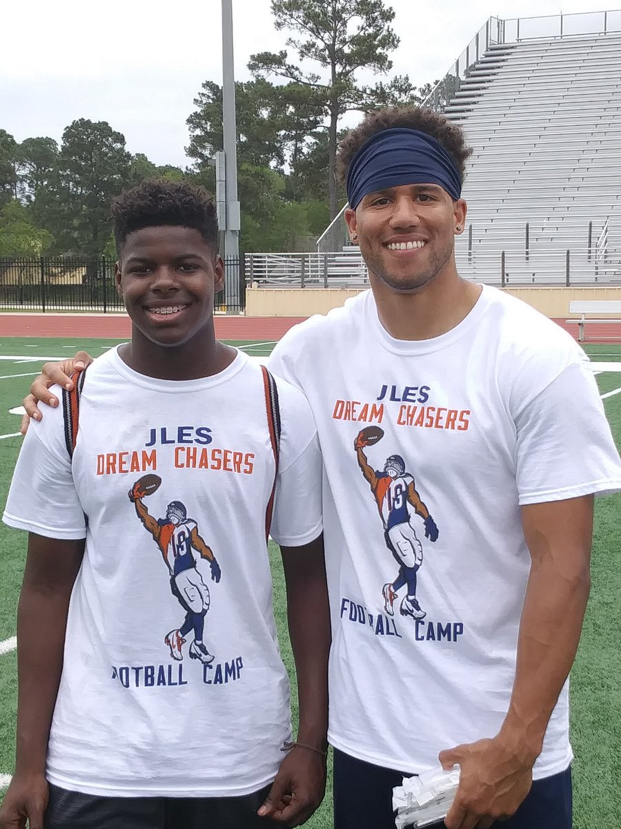 #thetruth at Jordan Leslie's camp at Tomball High School.  @Jles9