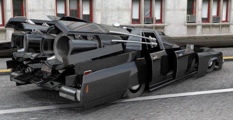 メン イン ブラックでお馴染みの車、フォードの1987年式「クラウンビクトリア」 劇中では変形した姿はわかりにくかったけど、こんなデザインだったんだ‼️😁