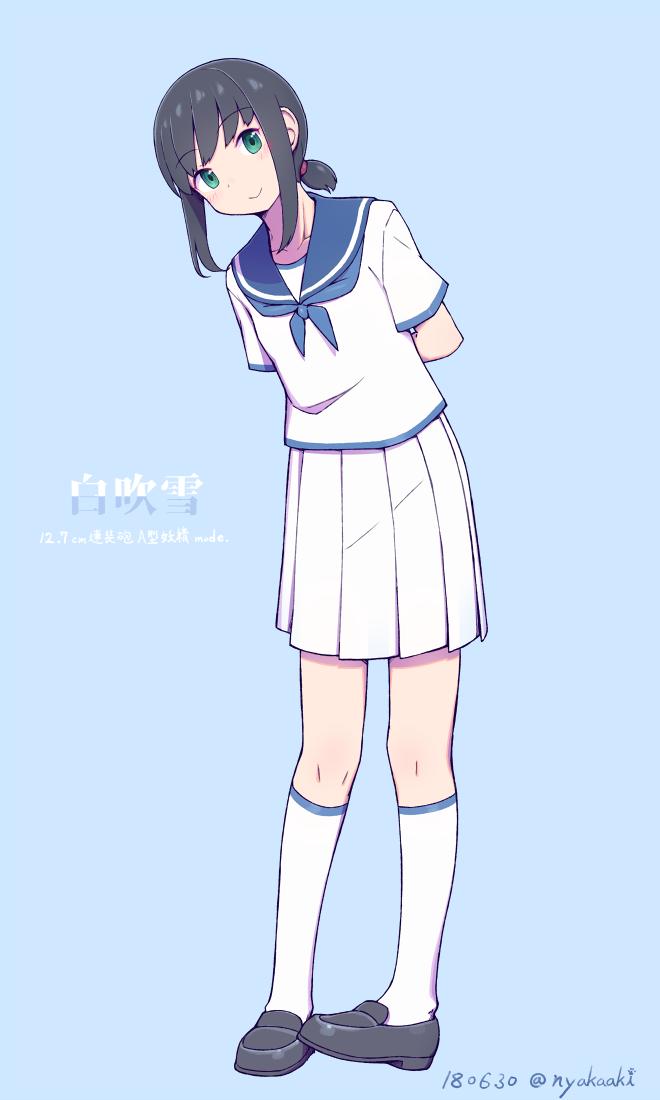 白スカート吹雪