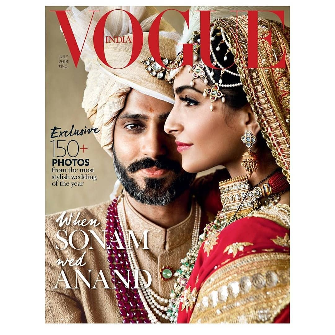 .@sonamakapoor & @anandahuja's wedding took over the instagram last month and now they have taken over the cover of #Vogue!  #voguemagazine #voguejuly2018 #everydayphenomenal #sonamkapoor #anandahuja #sonamandanand @VOGUEIndia