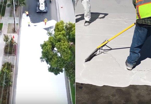 【RT200UP】 こう暑くっちゃよ~、よし、道路まるごと白く塗っちゃえ!で、実際に効果があった件(アメリカ・ロサンゼルス)