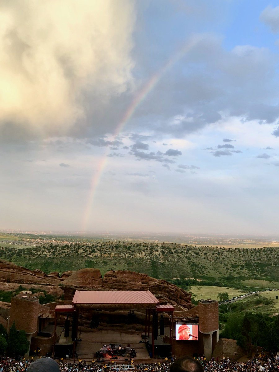 Well, it looks like David Crosby and the #SkyTrails band had a nice scene going for their tour-closing gig at Red Rocks last night. Wish I coulda been there. Music is love! [photo by @idjrworld via @vindownes]<br>http://pic.twitter.com/tdhX9RWcDb