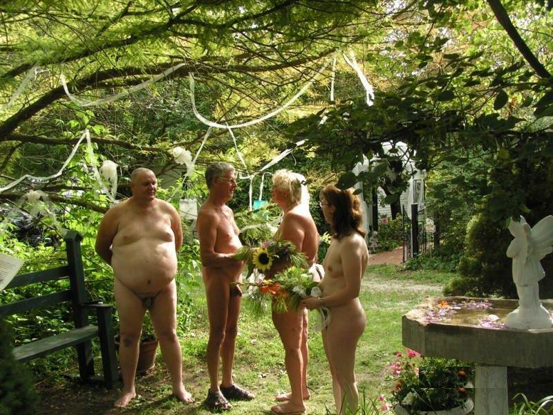 Nude wedding orgy