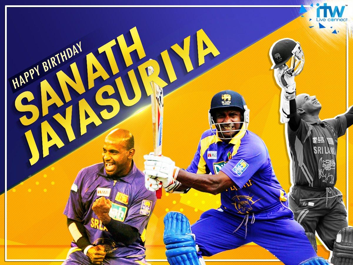 Wishing legendary opening batsman Sanath Jayasuriya a very Happy Birthday.
