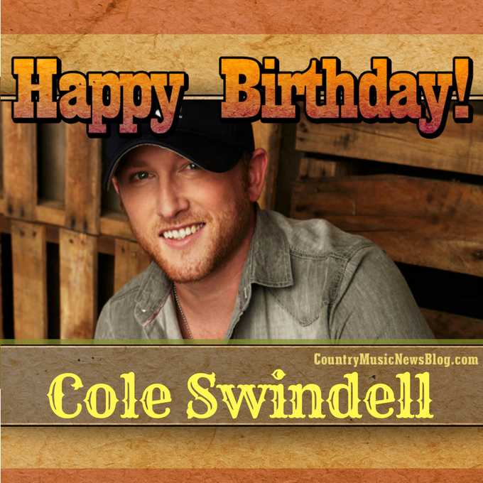 A giant happy birthday shoutout to Cole Swindell! Make it a good one!