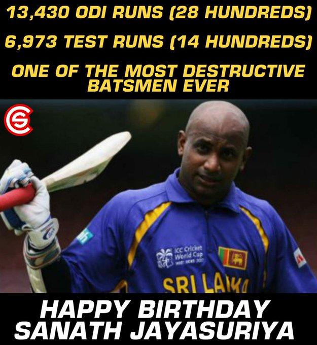 Happy Birthday, Sanath Jayasuriya!!