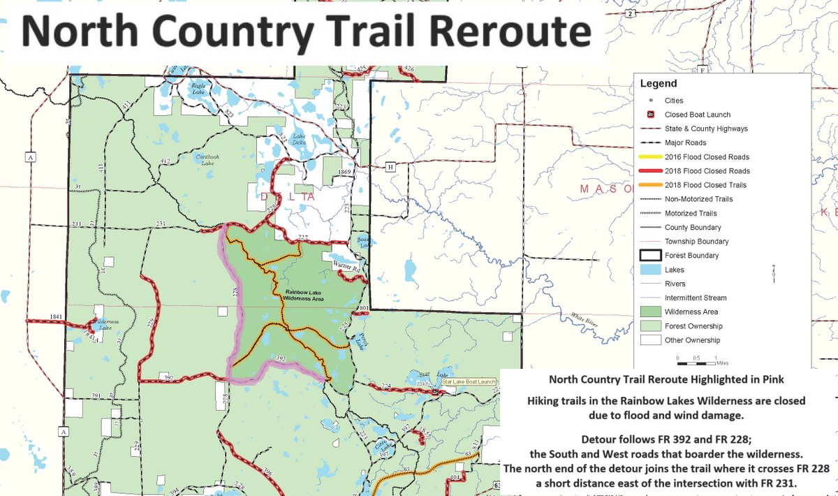 Chequamegon Nicolet National Forest Map on