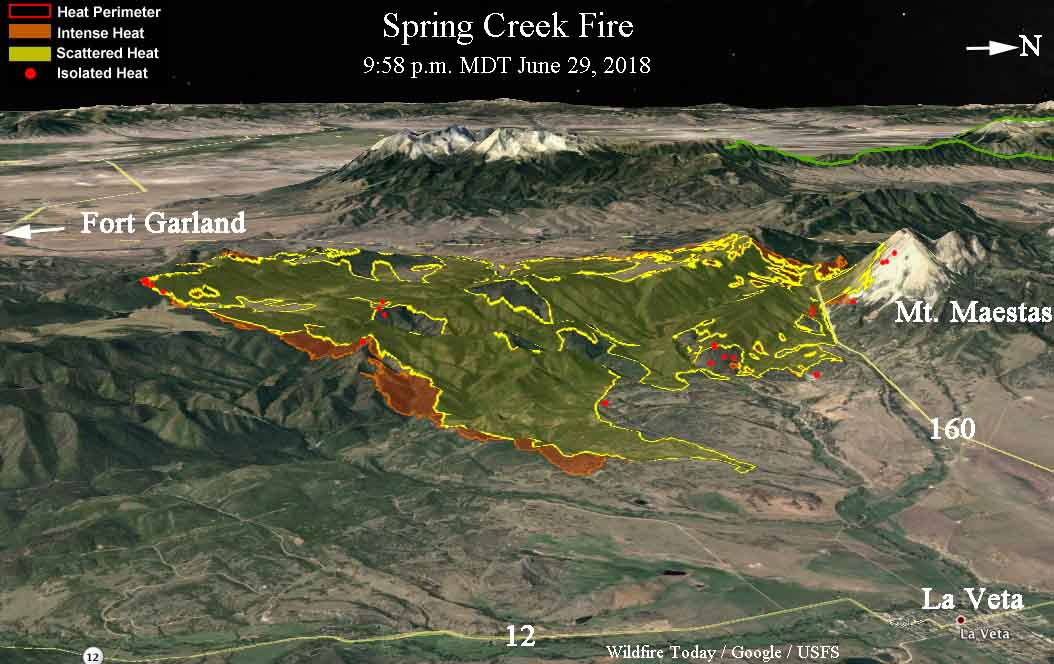 Wildfire Today On Twitter 3 D Map Of The Springcreekfire From