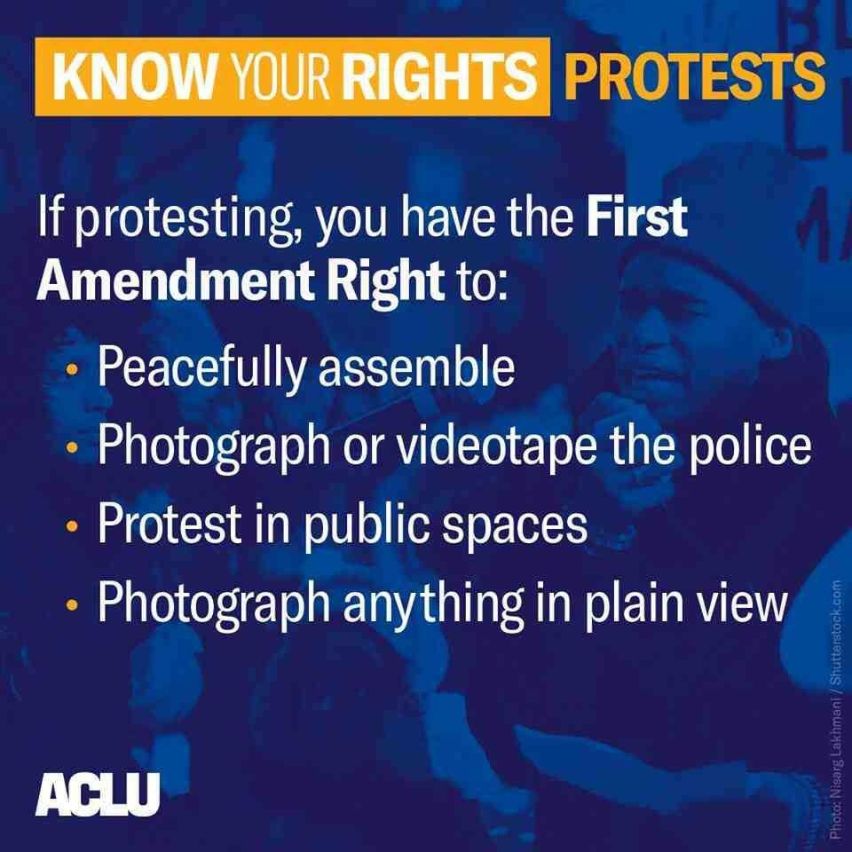 If you are attending a #FamiliesBelongTogether rally today, know your rights.