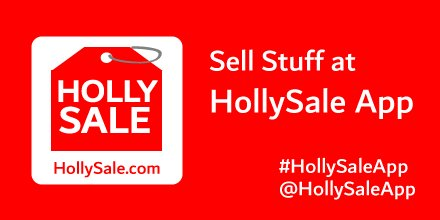 HollySale - Buy and Sell Stuff, Earn Cash Locally on Twitter: