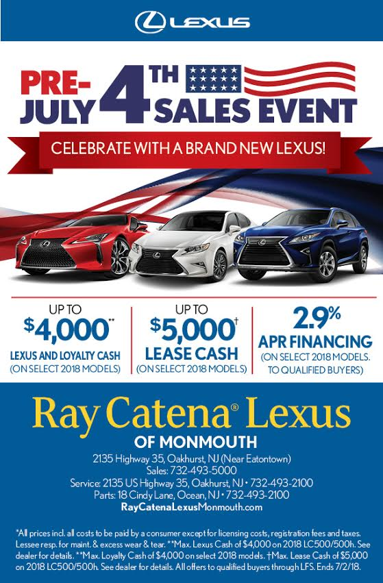 Get Excited For The 4th Of July With The Pre July 4th Sales Event At Ray  Catena Lexus Of Monmouth! Http://bit.ly/2s4OJps #LexusMonmouth #Lexus ...