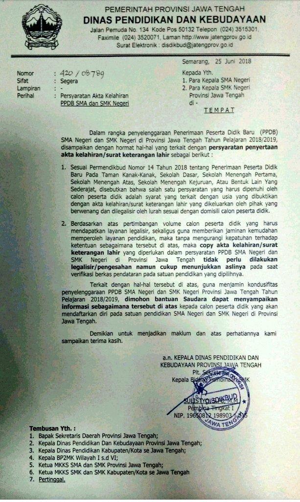 Kop Surat Dinas Pendidikan Provinsi Jawa Tengah - Terkait ...