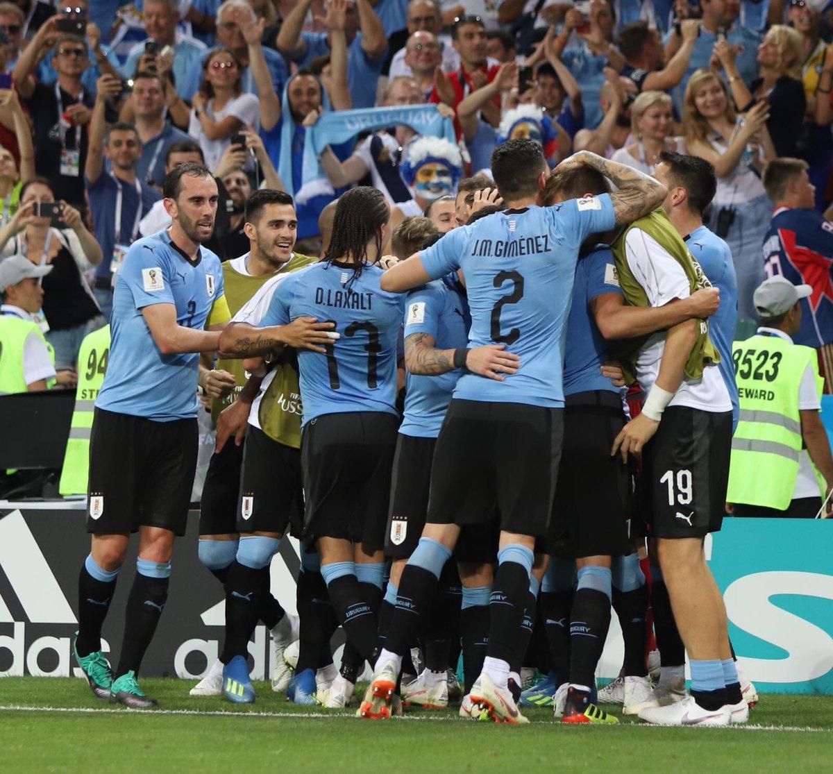 Entre los 8 mejores!!!! Vamoooooos por más!!! El sueño está más vivo que nunca!! Vamoooo Uruguay carajooooo 💪🏼💪🏼💪🏼💪🏼🇺🇾🇺🇾🇺🇾 #worldcup https://t.co/tKfjrYiBmY