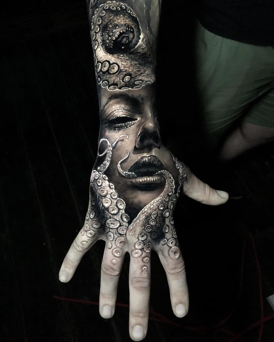 Killer Ink Tattoo On Twitter Sick Black And Grey Hand Tattoo From