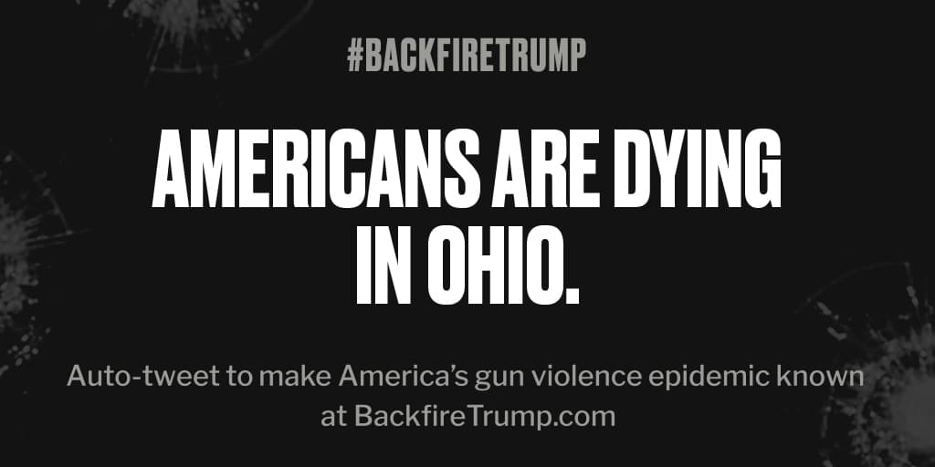 #Ohio is suffering today after fatal shooting. #POTUS, stop the bloodshed. #BackfireTrump