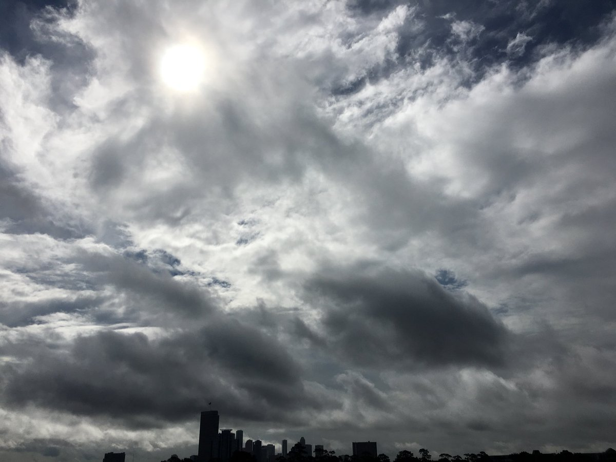 Sky over downtown earlier today.