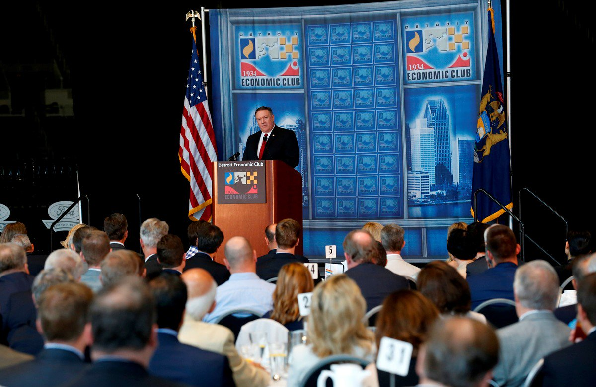 For every small company in America there's an opportunity. If we do our job at @StateDept well, we will help lead the way for American companies' economic growth. Thanks to @deteconomicclub for hosting me today.