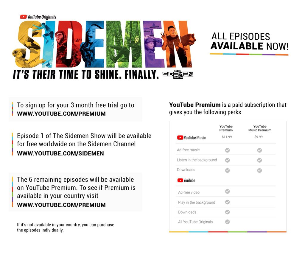 Information on how to watch our series for free