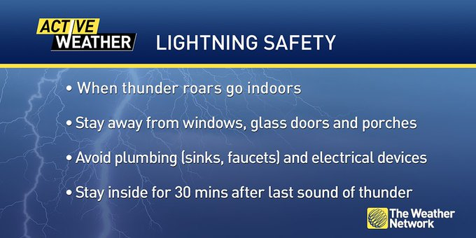 When thunder roars, go indoors, and other tips to keep you safe during a thunderstorm ⛈ #ONstorm Photo