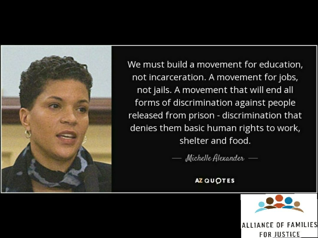 Afj On Twitter Monday S Quotes Michelle Alexander Is A Writer Civil Rights Advocate And Visiting Professor At Union Theological Seminary She Is Best Known For Her 2010 Book The New Jim Crow